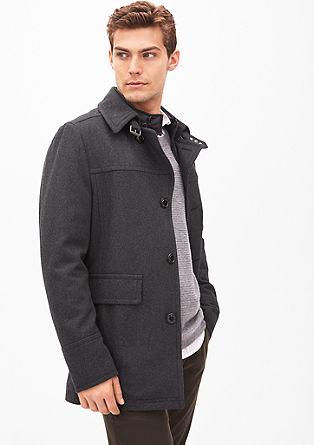 Slim: Wolljacke mit modischen Details