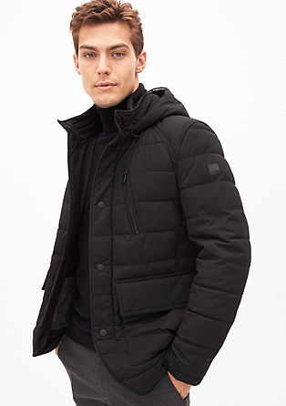 Lined jacket with scuba inserts from s.Oliver