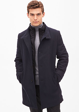 Modern fit: Short, textured coat from s.Oliver