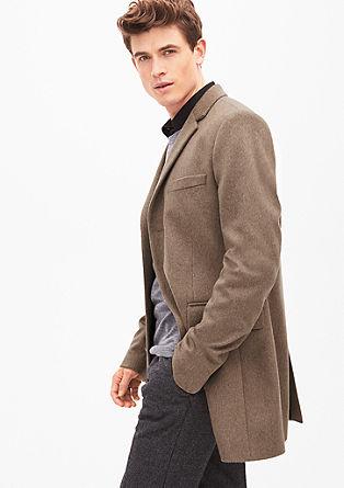Slim fit: elegante mantel van wol