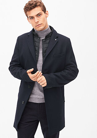 Slim fit: Elegant wool coat from s.Oliver