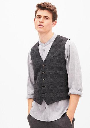 Brezrokavnik s tkanim vzorcem