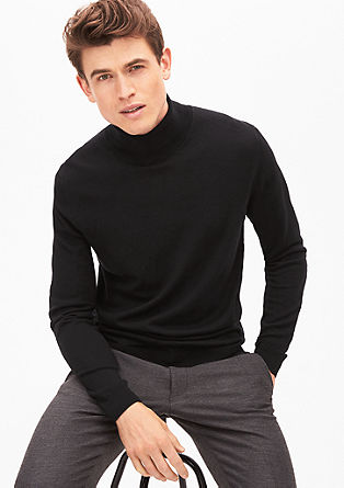 Polo neck jumper in a wool blend from s.Oliver