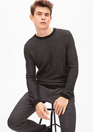 Wool jumper with a jacquard pattern from s.Oliver