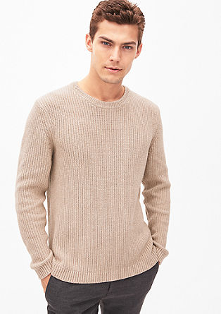 Chunky knit jumper in blended wool from s.Oliver