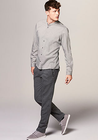 Slim: Tweed trousers from s.Oliver