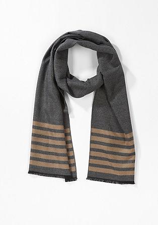 Eleganter Schal mit Streifen