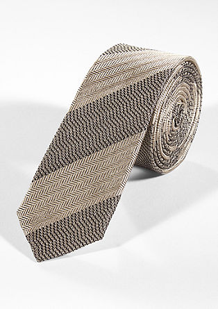 Silk tie with a mixed pattern from s.Oliver