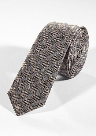Svilena kravata s kombinacijo vzorcev
