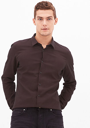 Slim: Shirt with an argyle pattern from s.Oliver