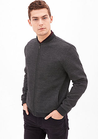 Sweatshirt jacket in a bomber style from s.Oliver