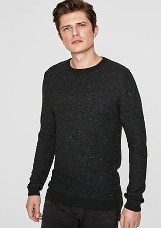 Wool jumper in blended cashmere from s.Oliver
