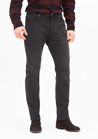 Stretto Straight: Dunkelgraue Jeans
