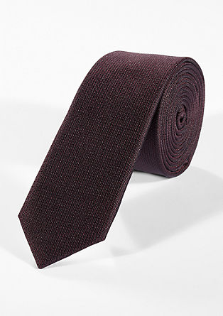 Silk tie with a fine pattern from s.Oliver