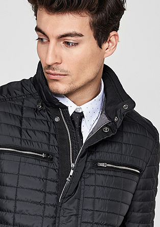 Lightweight quilted jacket with a stand-up collar from s.Oliver