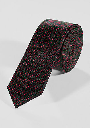 Tie with red stripes from s.Oliver