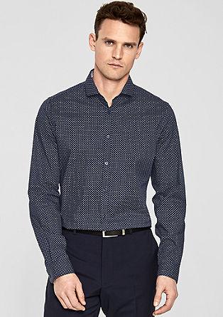 Slim fit: overhemd met een fijn motief