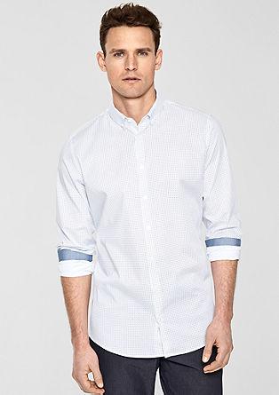 Slim Fit: Hemd mit Minimalmuster