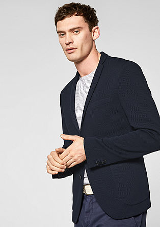 Cosimo Flex Slim: textured jacket from s.Oliver
