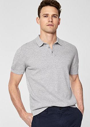Poloshirt aus Feinstrick
