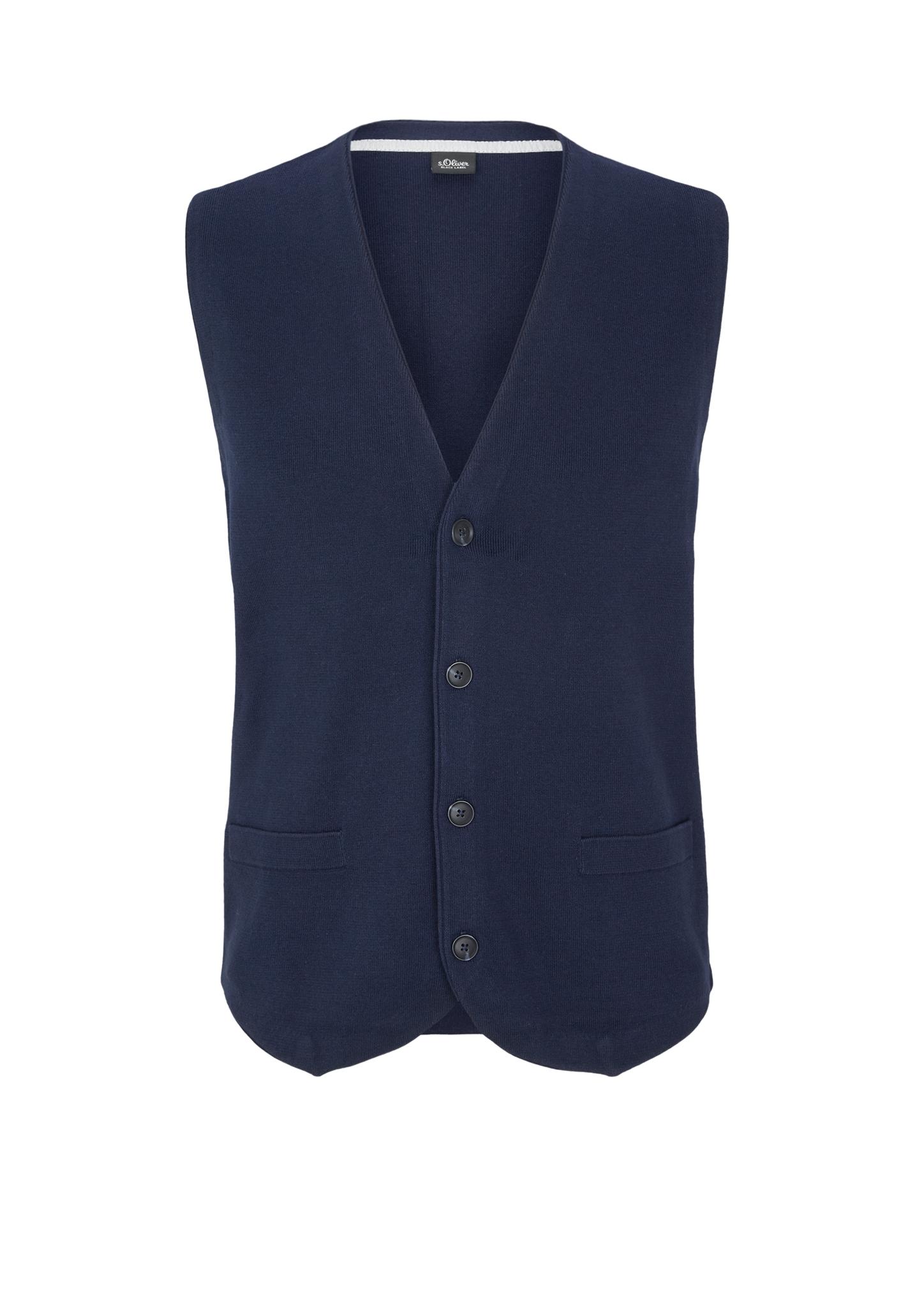 Strickweste | Bekleidung > Westen > Strickwesten | Blau | 100% baumwolle | s.Oliver BLACK LABEL