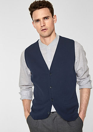 Fine knit waistcoat from s.Oliver