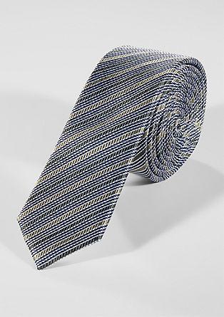 Gestreepte stropdas van zijde