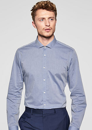 Slim Fit: lightweight cotton shirt from s.Oliver