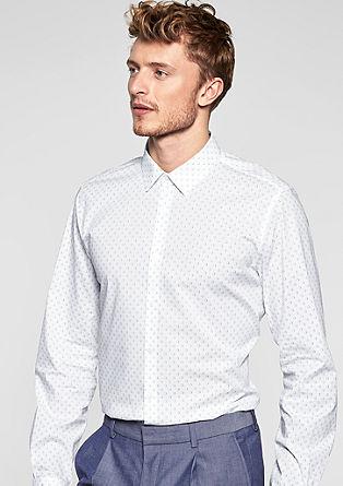 Modern fit: elastisch overhemd