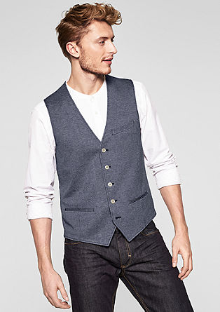 Waistcoat with a satin-effect back from s.Oliver