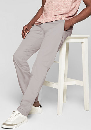 Mauro Slim: Cotton satin trousers from s.Oliver