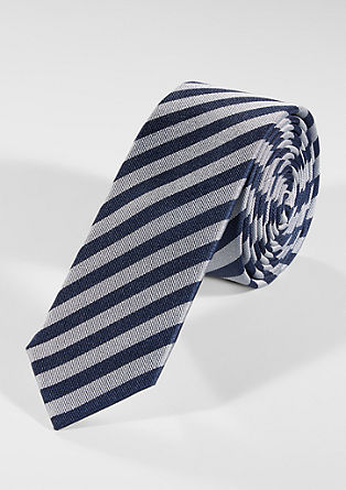Patterned silk tie from s.Oliver
