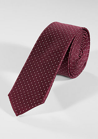 Silk tie with pattern from s.Oliver