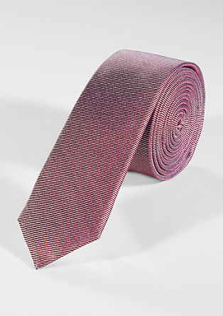 Tie with striped texture from s.Oliver