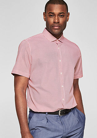 Slim Fit: patterned short sleeve shirt from s.Oliver