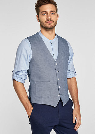 Mixed fabric suit waistcoat from s.Oliver