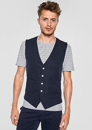 Lightweight waistcoat with a woven texture from s.Oliver