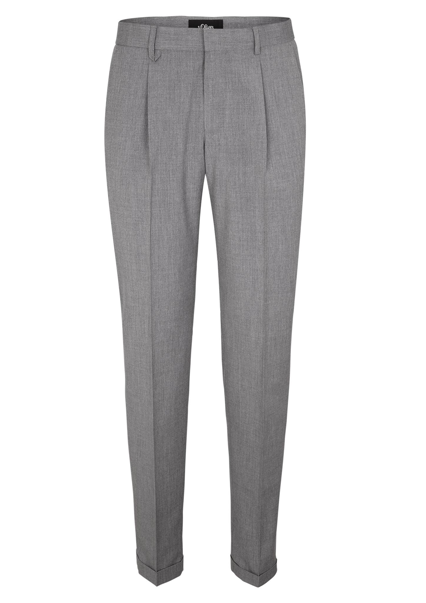 Hose | Bekleidung | Grau/schwarz | 66% polyester -  20% viskose -  12% schurwolle -  2% elasthan | s.Oliver BLACK LABEL