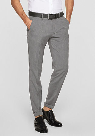 Levio Slim: elegant cloth trousers from s.Oliver