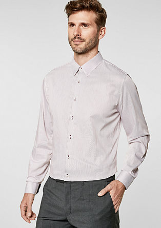 Slim: Business shirt with pinstripes from s.Oliver