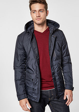 Outdoor-Jacke in Nylon-Optik