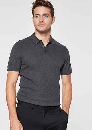 Short sleeve jumper in a polo style from s.Oliver