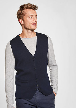 Fine wool blend waistcoat from s.Oliver