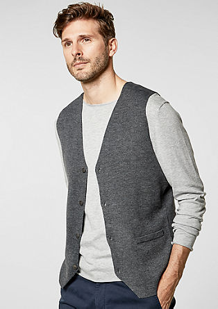 Casual knitted body warmer from s.Oliver