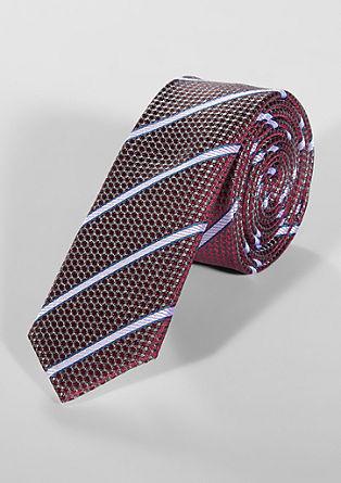 Zijden stropdas met een gestructureerd motief