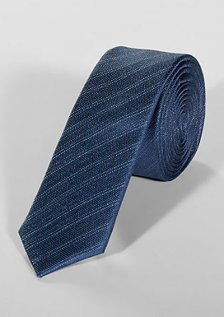 Silk tie with tonal stripes from s.Oliver