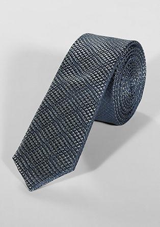 Zijden stropdas met een rasterstructuur