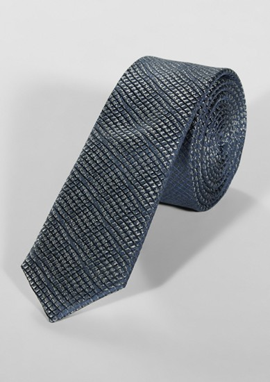 Silk tie with glitter texture from s.Oliver