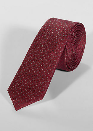 Silk tie with a minimalist pattern from s.Oliver