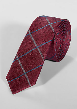 Checked silk tie from s.Oliver